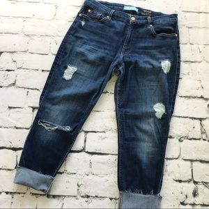 7FAMK B(air) Skinny Ankle Distressed Jeans Size 31